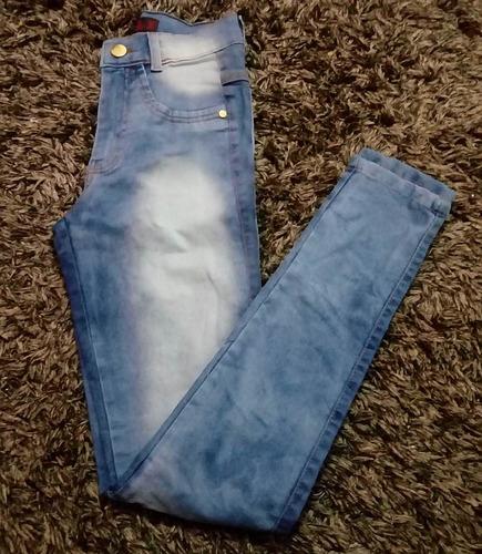 kit 4 calça jeans feminina cintura alta hot pants cós alto