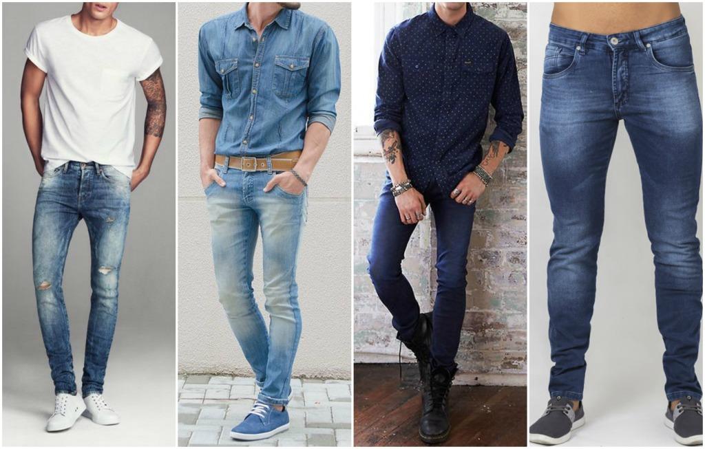 fb4359c79 kit 4 calça jeans masculina skinny slim lycra 100% qualidade. 8 Fotos