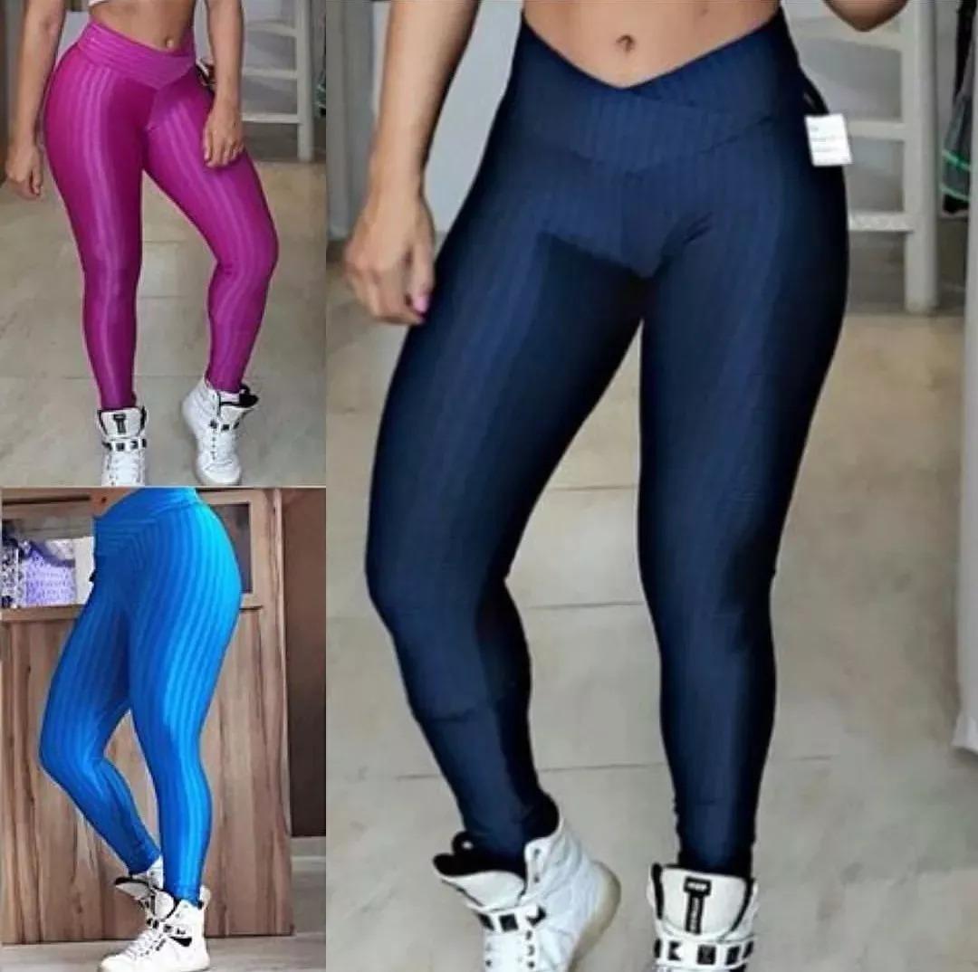 efa218939 kit 4 calça legging cirre 3d cós cruzado fitness newvision. Carregando zoom.