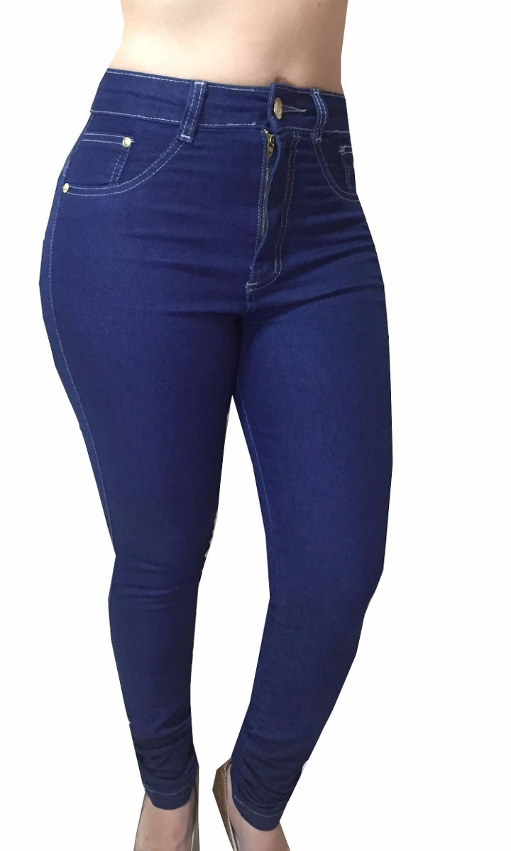 cc330593a kit 4 calças jeans feminina cintura alta com lycra promoção. Carregando  zoom.