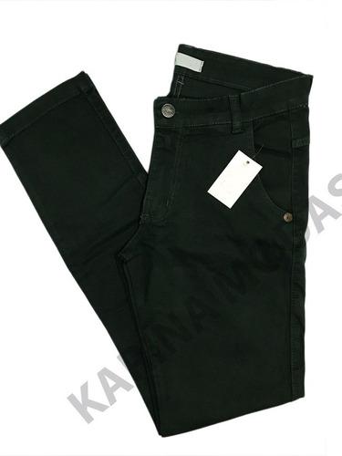 kit 4 calças sarja masculina  com laycra skiny  frete grátis