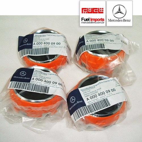 kit 4 calota centro roda mercedes benz amg 75mm c63 laranja