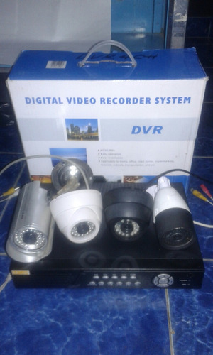 kit 4 cámara+dvr+disco duro+cables