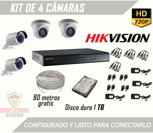 kit 4 camaras de seguridad | envío gratis | disco 1tb oferta