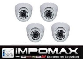 kit 4 camaras domo ir 24/7 cctv video vigilancia seguridad $