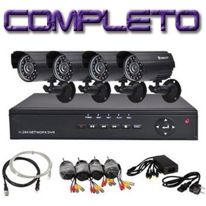 kit 4 cámaras seguridad cctv dvr pal int/ext visión nocturna