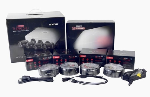 kit 4 camaras seguridad cctv hd 720p 500 gb cables inc