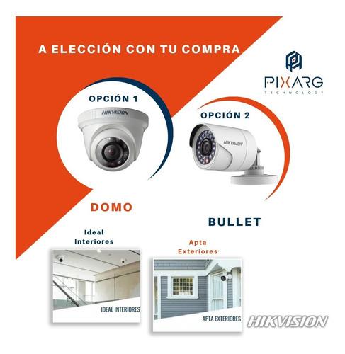kit 4 camaras seguridad hikvision dvr fullhd lite p2p +disco + cable o baluns