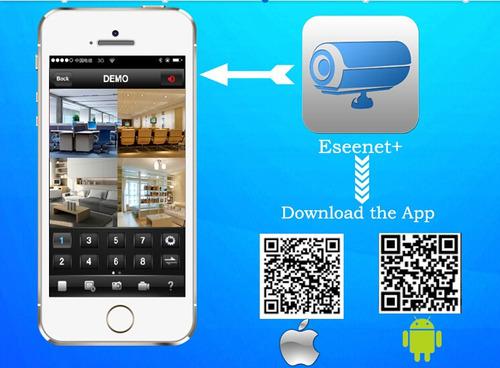 kit 4 cámaras seguridad hogar wifi vigilancia inalámbrico ip