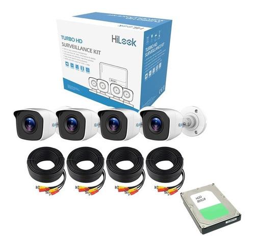 kit 4 camaras vigilancia seguridad  dvr cctv 1 mp 720p 500gb