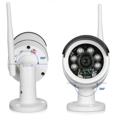 kit 4 camaras wifi ip cctv inalambricas exteriores