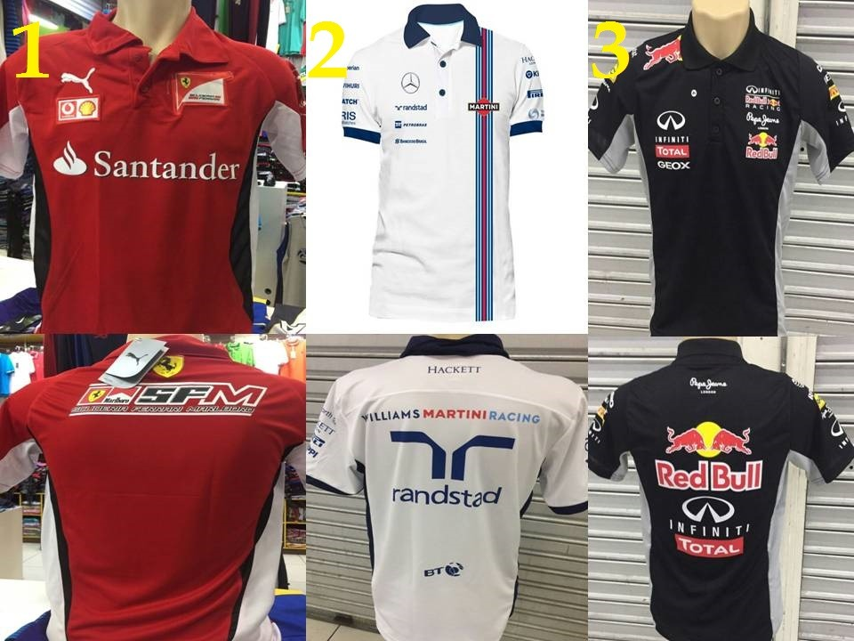 219c8a42cc kit 4 camisa camiseta polo red bull repsol mercedes f1 bmw. Carregando zoom.