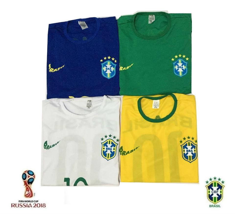 01049ced5ff73 kit 4 camisa camiseta seleção brasileira copa 2018 elanca. Carregando zoom.