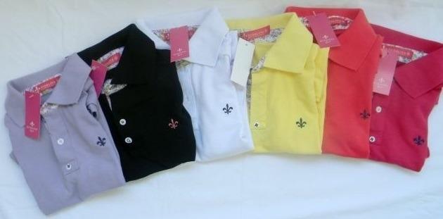 aa244e0ae3 Kit 4 Camisa Polo Feminina Marcas Famosas - R  80