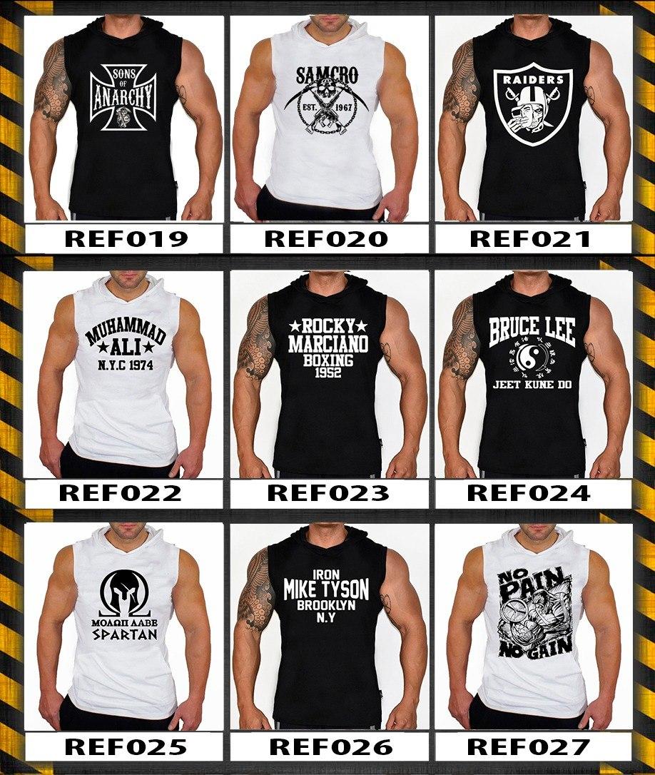 kit 4 camisa regata machão com capuz masculina varios modelo. Carregando  zoom. a2a4aefd041