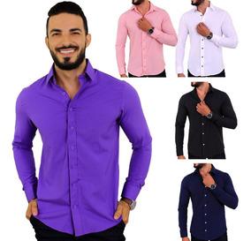 7f306ca213 Camisa Social Masculina Slim Baratas - Calçados, Roupas e Bolsas com o  Melhores Preços no Mercado Livre Brasil