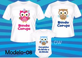 200b0eb7d Camisa Estampada Coruja no Mercado Livre Brasil