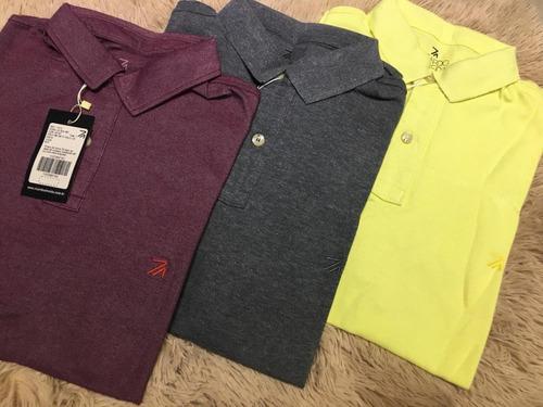 kit 4 camisas polo masculina ricardo almeida