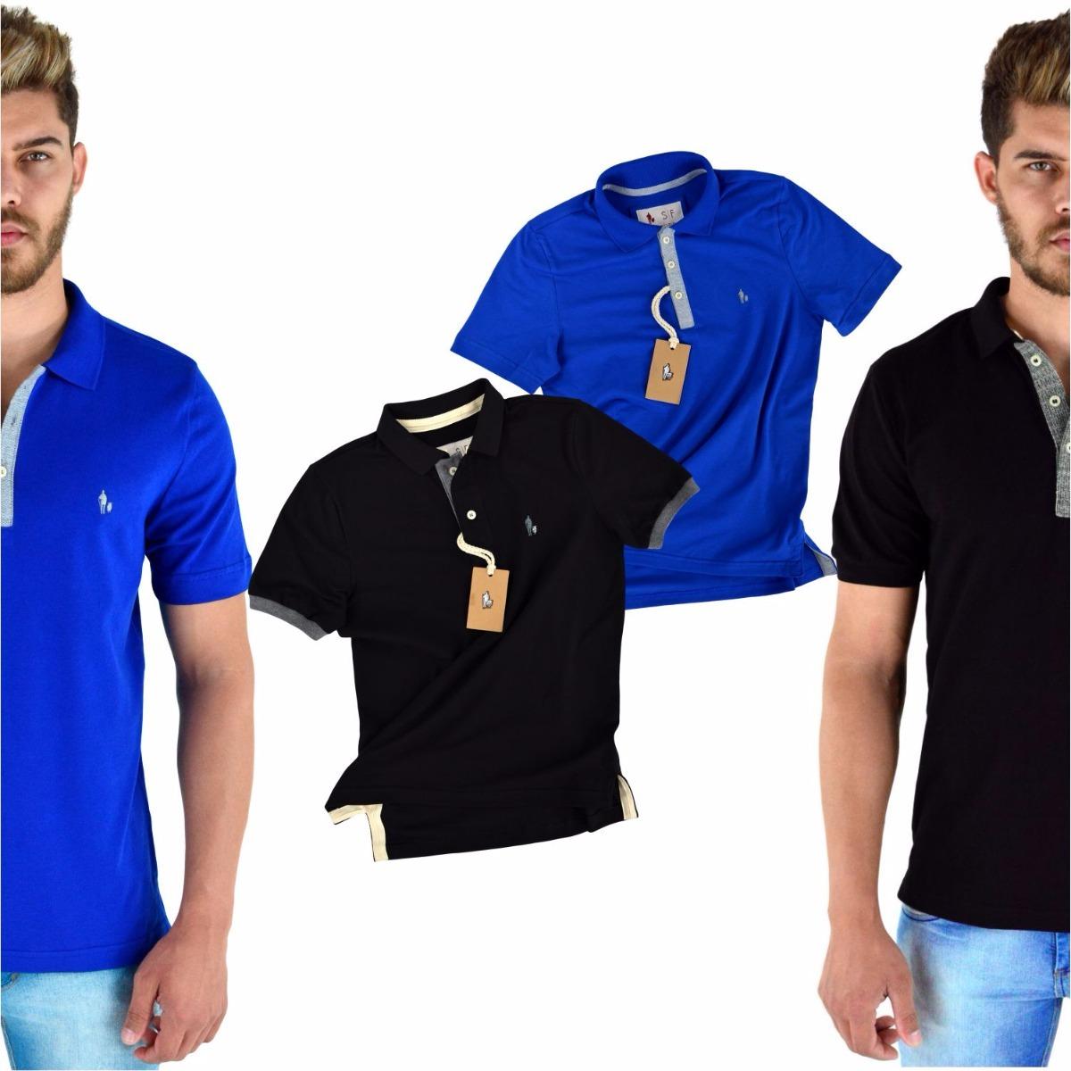 0cf05c3ccb0a9 kit 4 camisas polo originais tecido piquet 100% algodão. Carregando zoom.