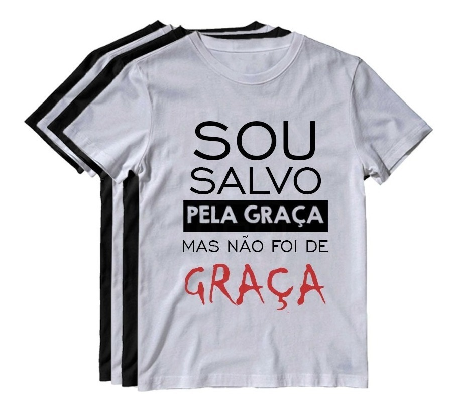 26f825666 Kit 4 Camiseta Religiosa Blusa Camisa Jesus Evangélica Fé - R$ 99,90 ...