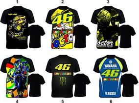 b7084fc8cd Kit 4 Camiseta Valentino Rossi 46 Moto Gp Esporte Marc