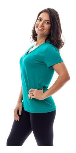 kit 4 camisetas dry fit 100% poliamida fitness feminina