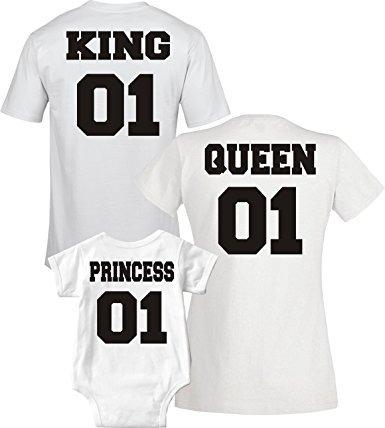 ahorre hasta 60% venta minorista última venta Kit 4 Camisetas Família King Queen Princess + Frete Grátis