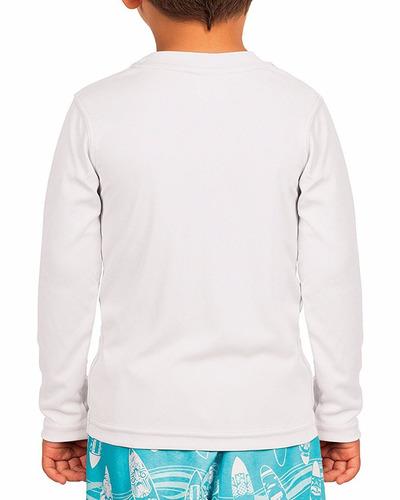 kit 4 camisetas infantil com proteção uv fps50+