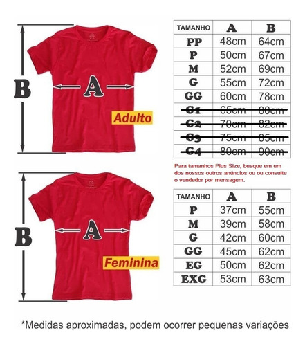 kit 4 camisetas masc. ou fem. qualquer estampa full print