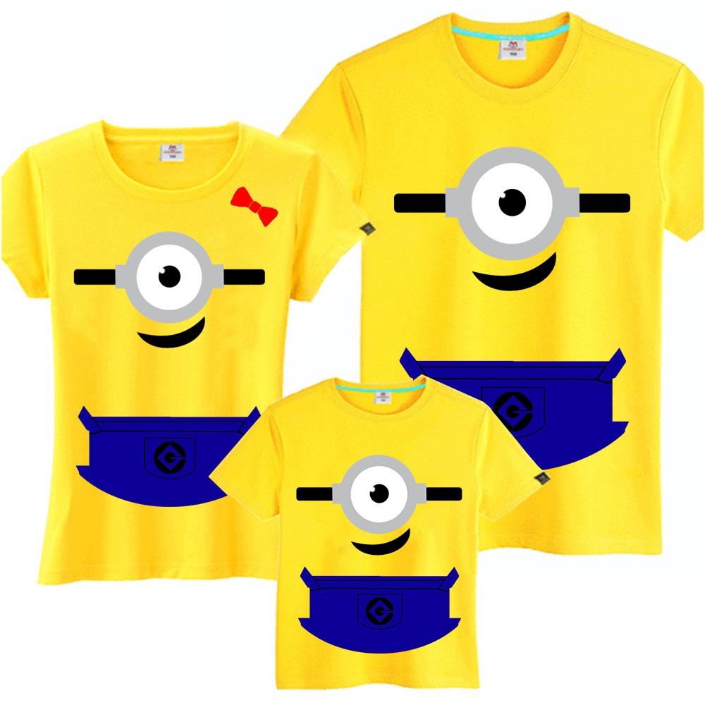 391ecc476351 kit 4 camisetas minions tal pai tal mãe tal filho filha. Carregando zoom.