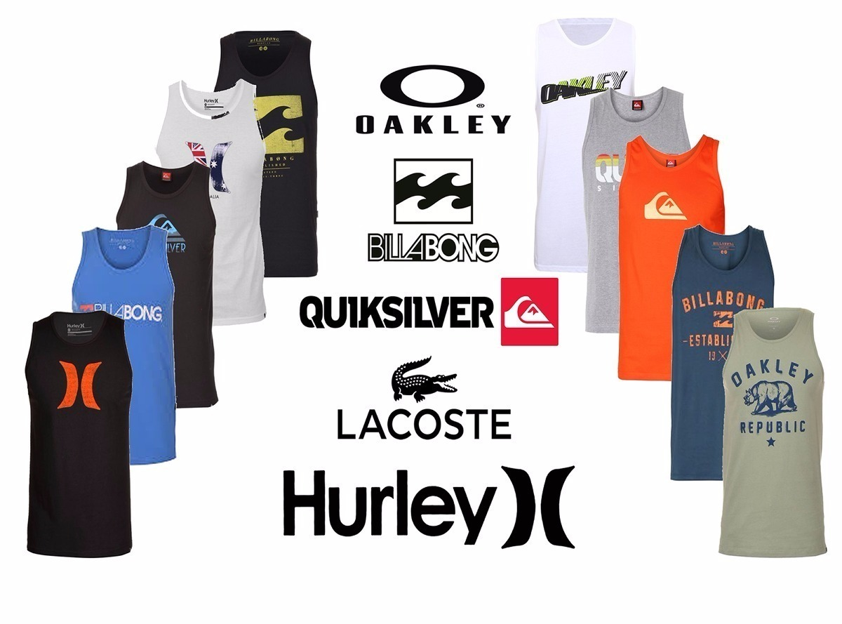 kit 4 camisetas regata masculina 100% algodão oakley hurley. Carregando  zoom. d989cd73679