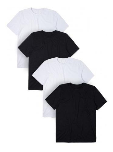 kit 4 camisetas t-shirt plus size qualquer estampa silk
