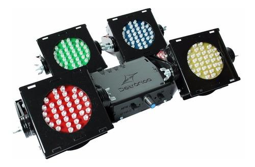 kit 4 canhão led, iluminação dj profissional, jogo luz festa
