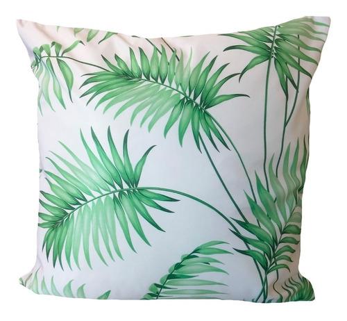 kit 4 capas de almofada folhagem folhas verdes 42cm r71