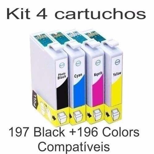 kit 4 cartucho t197 t194 compatível xp204 xp214 xp401 411