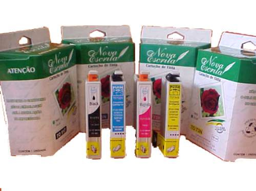 kit 4 cartuchos compatível epson 73n to731 to732 to733 to734