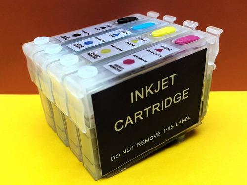 kit 4 cartuchos recargables llenos cx5600 cx5900 cx6900f t20