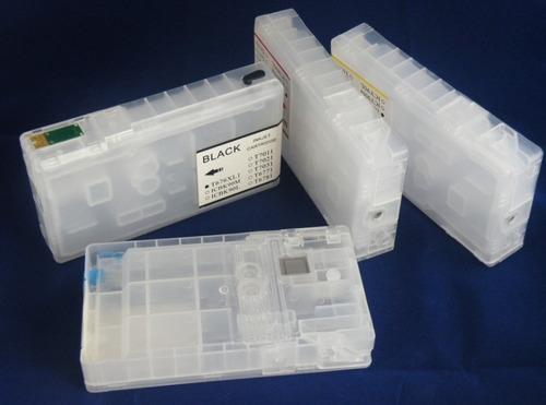 kit 4 cartuchos rellenables p/ epson wp-4092 4022 4532 4592