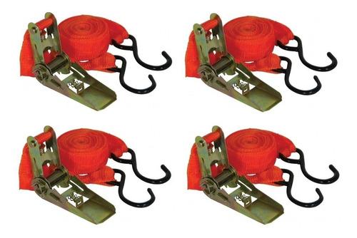 kit 4 catracas + cintas/fita p prender e transportar cargas