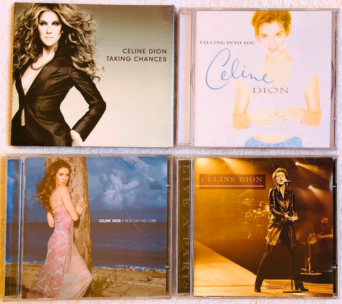 kit 4 cds lacrados celine dion live falling taking a new day