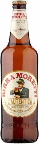 kit 4 cervejas birra moretti 330ml + taça - ótimo presente