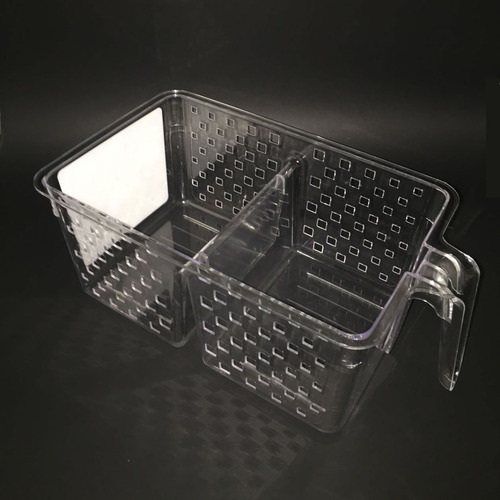kit 4 cesta organizadora com alça para geladeira despensa g