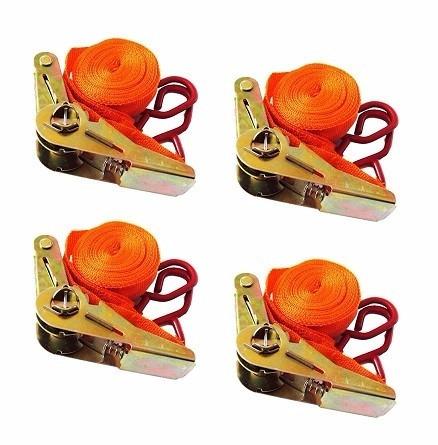 kit 4 cinta de segurança para picape fita amarração catraca