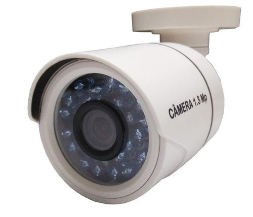 kit 4 câmeras hd 1.3 mp ir dvr intelbras multi hd + hd 500gb