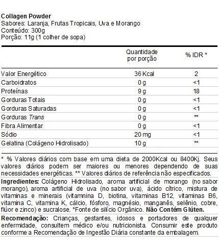 kit 4 colageno hidrolisado 300g- performance (vários sabores