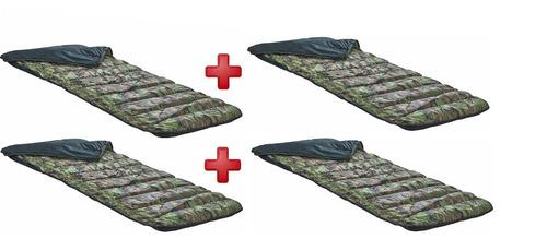 kit 4 colchonete e saco de dormir - duo camp - camping