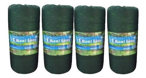 kit 4 colchonetes solteiro camuflado c/ sacola p/ transporte