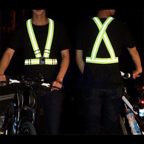 kit 4 coletes faixa refletivo esporte ciclismo corrida