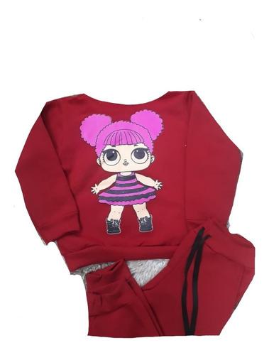kit 4 conjuntos inverno moletom infantil menina personagens