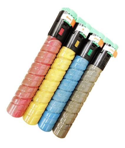 kit 4 cores toner ricoh c2051 c2050 c2555 c2551 c2030 c2530